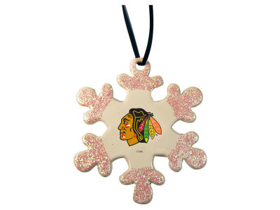 Chicago Blackhawks Glitter Snowflake Ornament