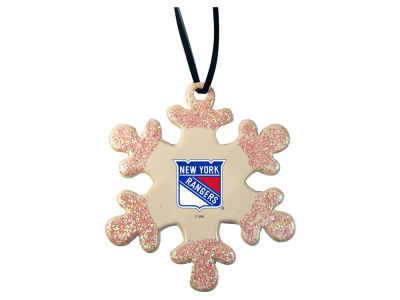 New York Rangers Glitter Snowflake Ornament