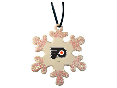 Philadelphia Flyers Glitter Snowflake Ornament