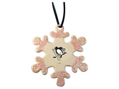 Pittsburgh Penguins Glitter Snowflake Ornament
