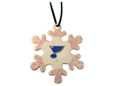 St. Louis Blues Glitter Snowflake Ornament