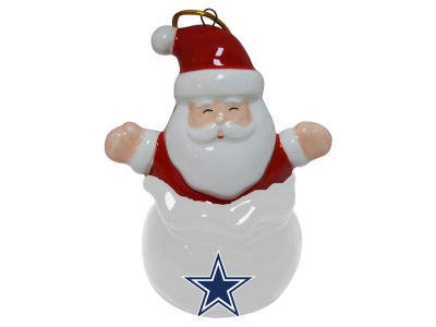 Dallas Cowboys Santa Bell Ornament
