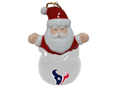 Houston Texans Santa Bell Ornament