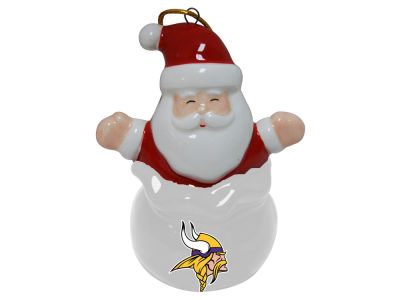 Minnesota Vikings Santa Bell Ornament