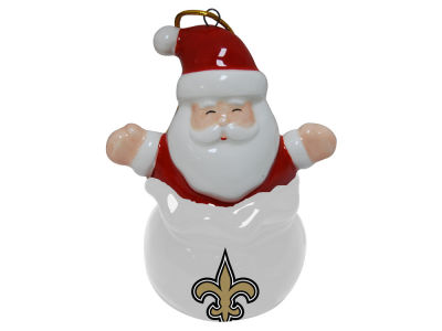 New Orleans Saints Santa Bell Ornament