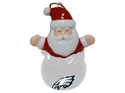 Philadelphia Eagles Santa Bell Ornament