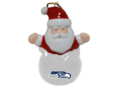 Seattle Seahawks Santa Bell Ornament