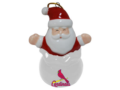 St. Louis Cardinals Santa Bell Ornament
