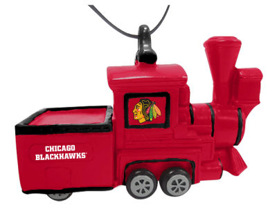 Chicago Blackhawks Team Train Ornament