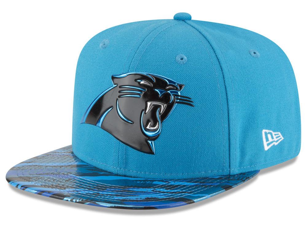 Carolina Panthers New Era 2016 NFL On Field Color Rush 9FIFTY Snapback Cap   3687ea822