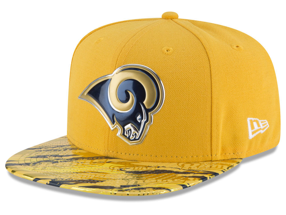 Los Angeles Rams New Era 2016 NFL On Field Color Rush 9FIFTY Snapback Cap  3a3bc713c