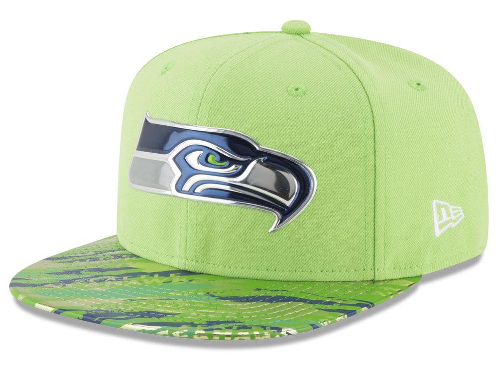 Seattle Seahawks New Era 2016 NFL On Field Color Rush 9FIFTY Snapback Cap  a8e9e5391