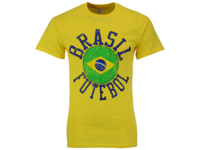 Brazil National Team Men's Flag Ball Graphic T-Shirt