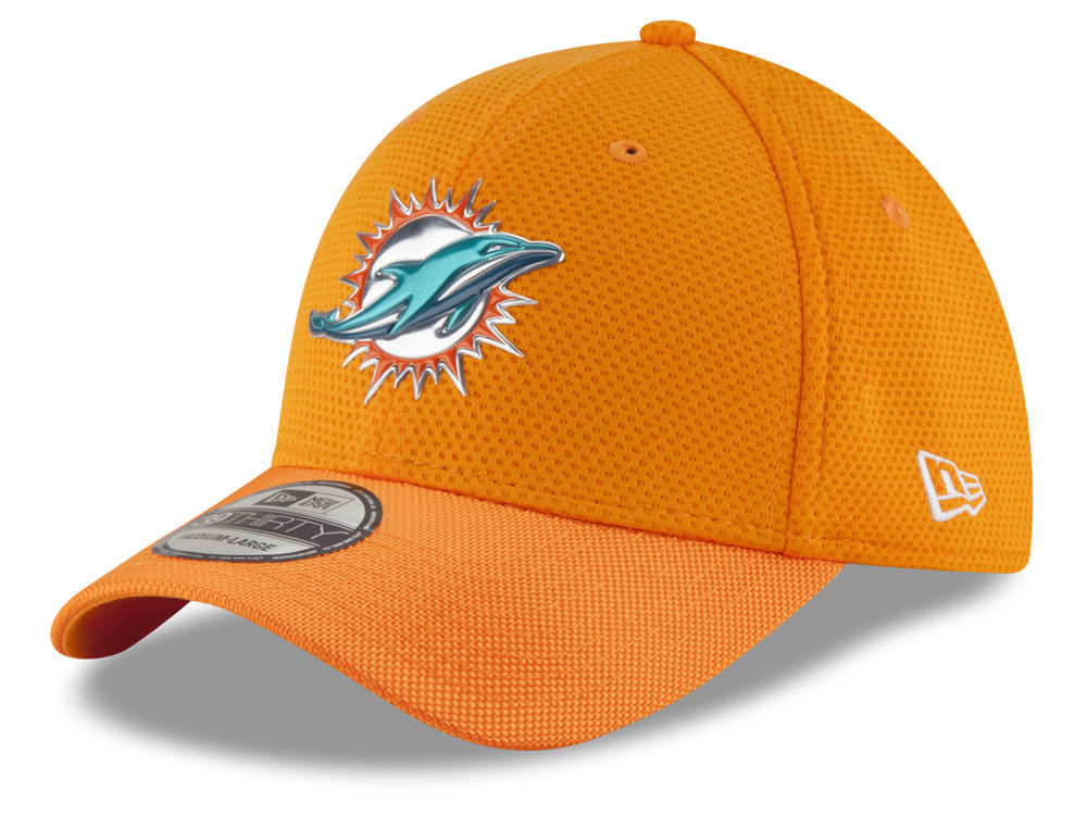 brand new 8a2e0 f25f6 Miami Dolphins New Era 2016 NFL On Field Color Rush 39THIRTY Cap