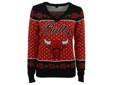 Chicago Bulls NBA Women's Big Logo Ugly Sweater
