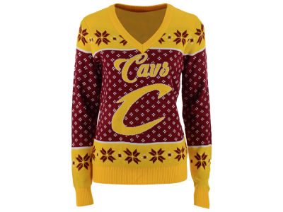 Cleveland Cavaliers NBA Women's Big Logo Ugly Sweater