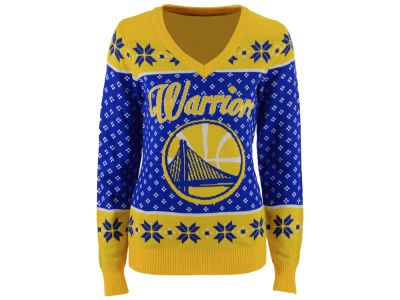 Golden State Warriors NBA Women's Big Logo Ugly Sweater