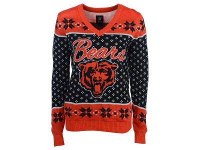 Chicago Bears NFL Women's Big Logo Ugly Sweater