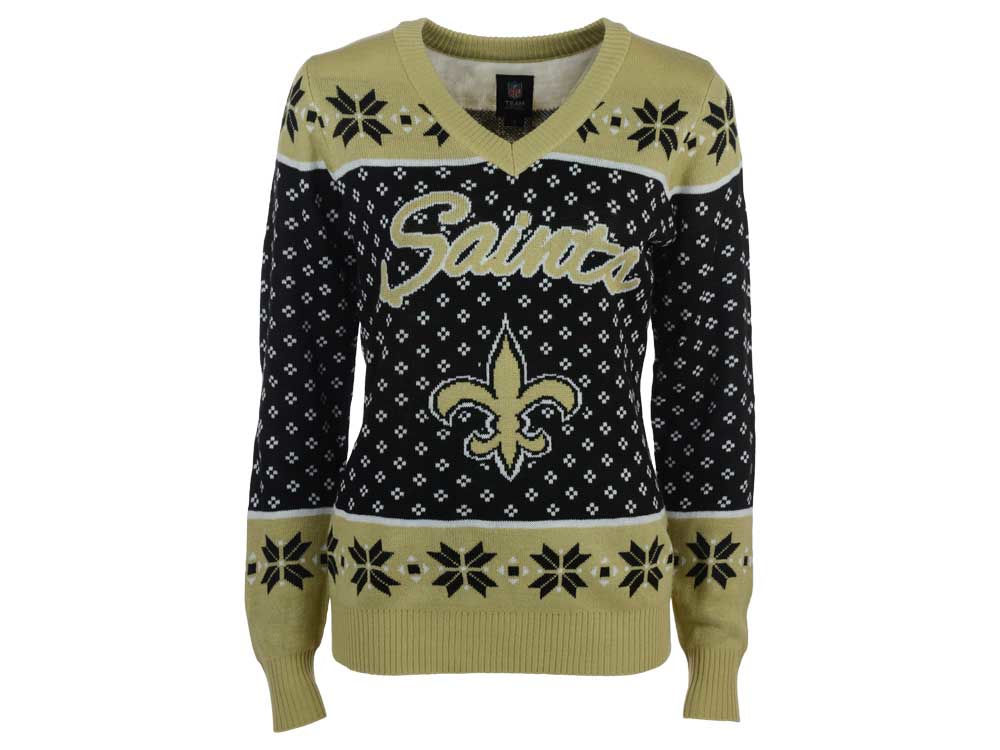New Orleans Saints Forever Collectibles NFL Women s Big Logo Ugly Sweater  e14caad48
