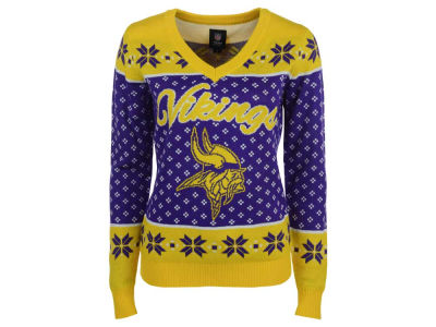 Minnesota Vikings NFL Women's Big Logo Ugly Sweater