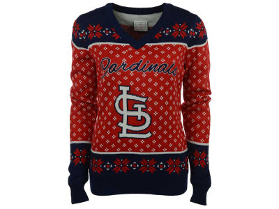 St. Louis Cardinals MLB Women's Big Logo Ugly Sweater