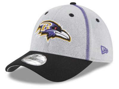 Baltimore Ravens New Era NFL Gray Stitch 39THIRTY Cap