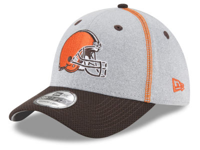 Cleveland Browns New Era NFL Gray Stitch 39THIRTY Cap