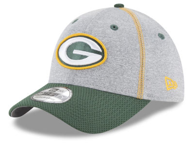 Green Bay Packers New Era NFL Gray Stitch 39THIRTY Cap