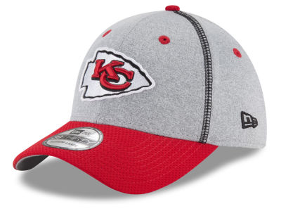 Kansas City Chiefs New Era NFL Gray Stitch 39THIRTY Cap