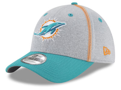 Miami Dolphins New Era NFL Gray Stitch 39THIRTY Cap