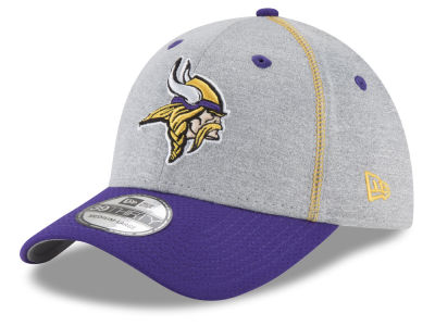 Minnesota Vikings New Era NFL Gray Stitch 39THIRTY Cap