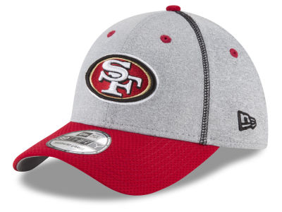 San Francisco 49ers New Era NFL Gray Stitch 39THIRTY Cap