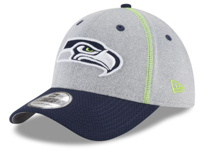 Seattle Seahawks New Era NFL Gray Stitch 39THIRTY Cap