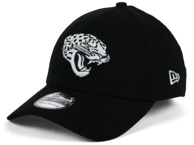 Jacksonville Jaguars New Era NFL Black White Team Classic 39THIRTY Cap