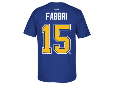 St. Louis Blues Robby Fabbri  Reebok NHL Men's Player T-Shirt