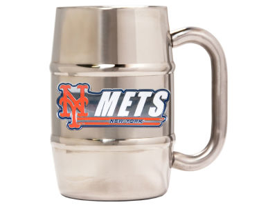 New York Mets 16oz Double Wall Barrel Mug