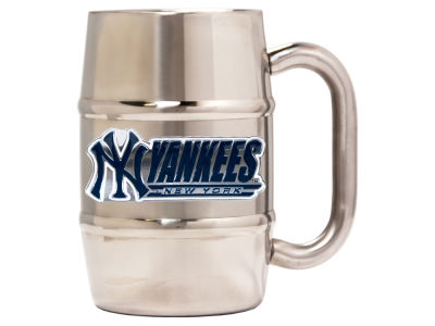 New York Yankees 16oz Double Wall Barrel Mug
