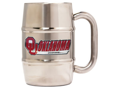 Oklahoma Sooners 16oz Double Wall Barrel Mug