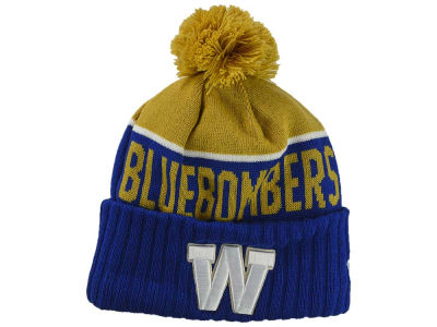Winnipeg Blue Bombers New Era CFL Cuffed Pom Sport Knit
