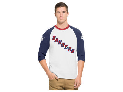 New York Rangers '47 NHL Men's Expansion Veterans Raglan Long Sleeve T-Shirt