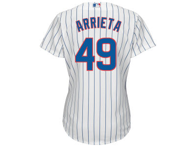 Chicago Cubs Jake Arrieta Majestic MLB Women's Cool Base Player Replica Jersey