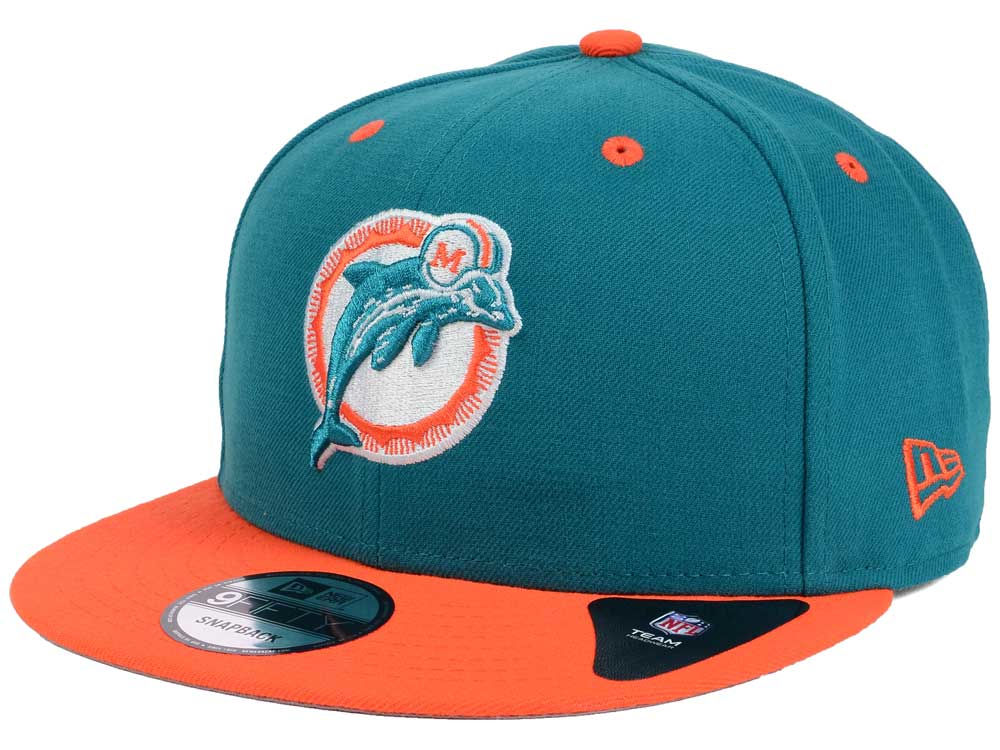 5d96215ea Miami Dolphins New Era NFL Historic Vintage 9FIFTY Snapback Cap ...