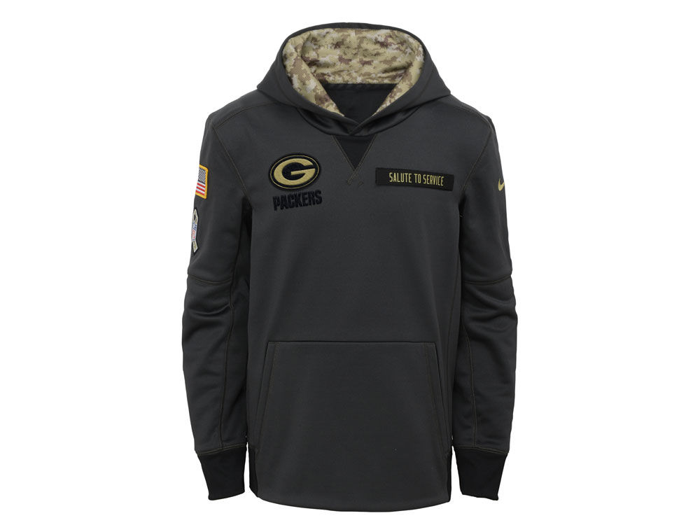 Green Bay Packers NFL Youth Salute to Service Hoodie  2182ac57f