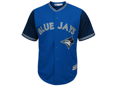 Toronto Blue Jays Majestic MLB Men's Blue Steel Cool Base Player Jersey