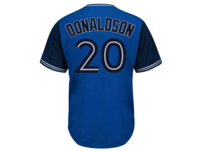 Toronto Blue Jays Josh Donaldson Majestic MLB Men's Blue Steel Cool Base Jersey