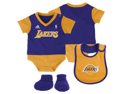 Los Angeles Lakers NBA Newborn Creeper Bib & Bootie Set