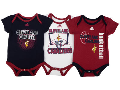 Cleveland Cavaliers NBA Newborn 3 Point Play Bodysuit Set