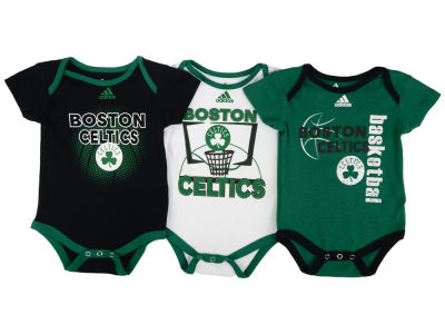 Boston Celtics NBA Newborn 3 Point Play Bodysuit Set