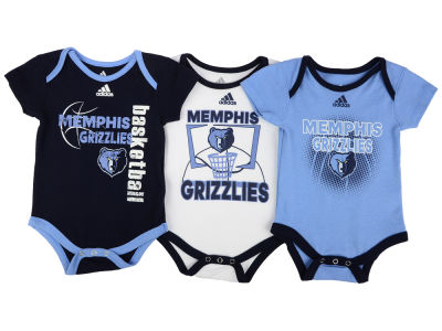 Memphis Grizzlies NBA Newborn 3 Point Play Bodysuit Set