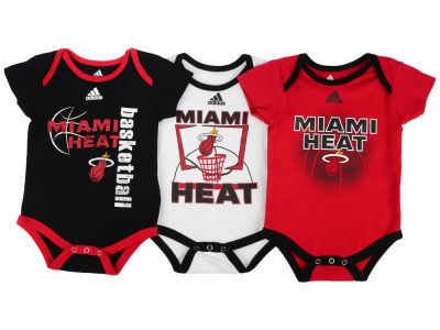 Miami Heat NBA Newborn 3 Point Play Bodysuit Set